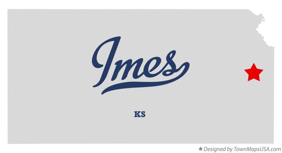 Map of Imes Kansas KS
