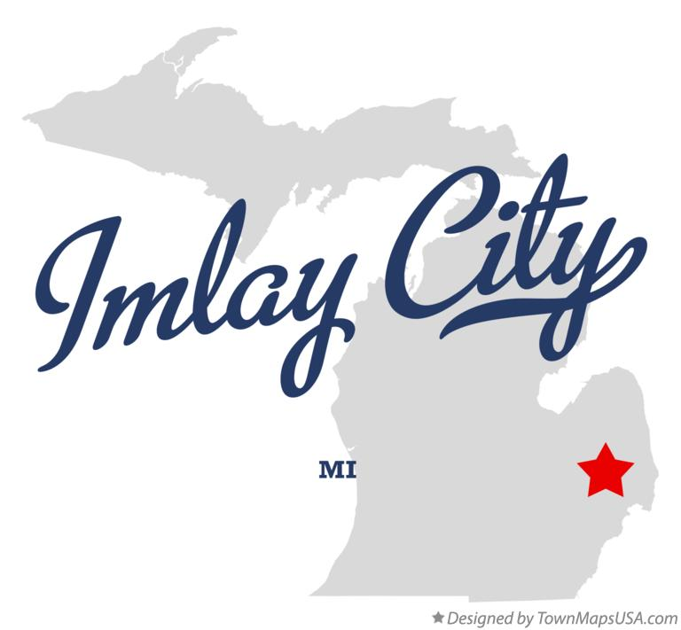 Map of Imlay City Michigan MI