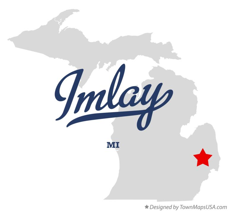 Map of Imlay Michigan MI
