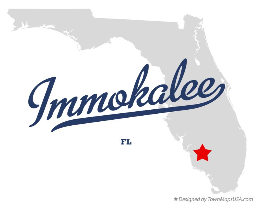 Map Of Immokalee Fl Florida