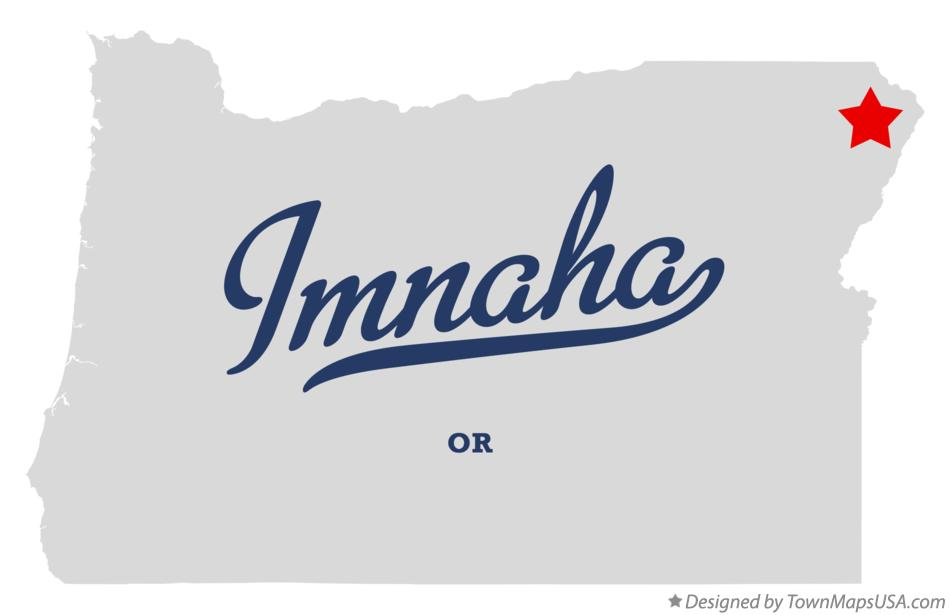 Map of Imnaha Oregon OR
