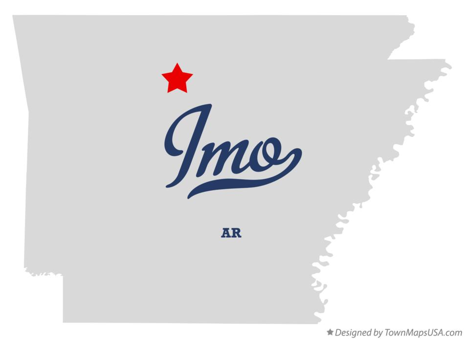 Map of Imo Arkansas AR