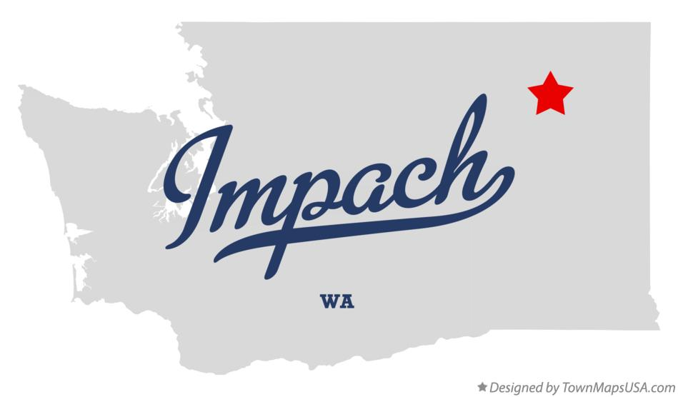 Map of Impach Washington WA