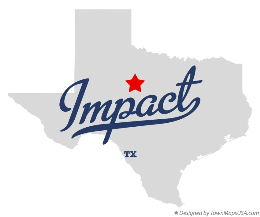 Map of Impact Texas TX