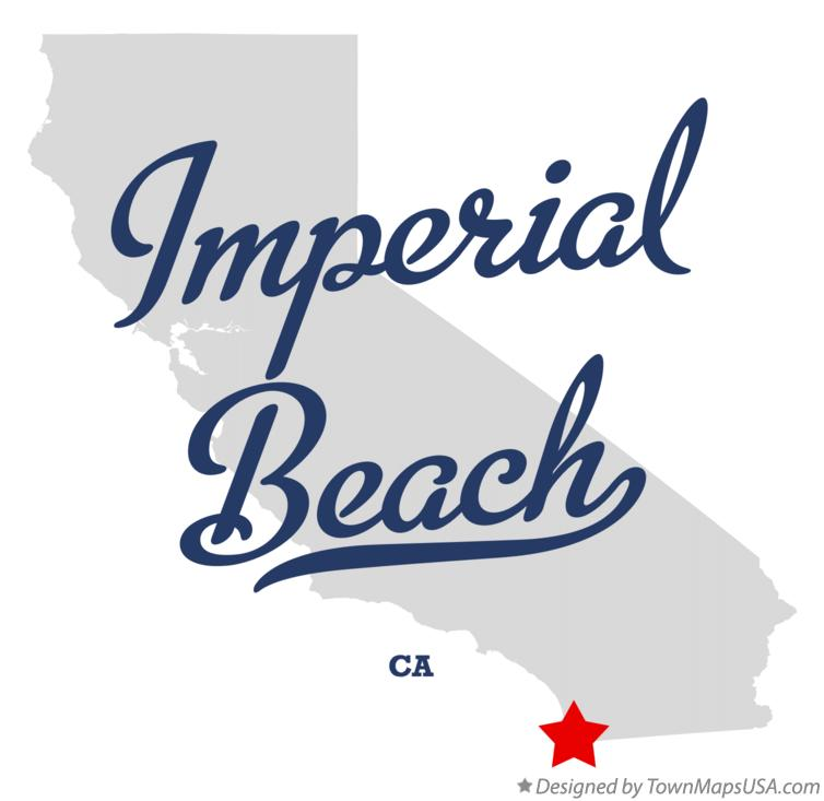 Map of Imperial Beach California CA