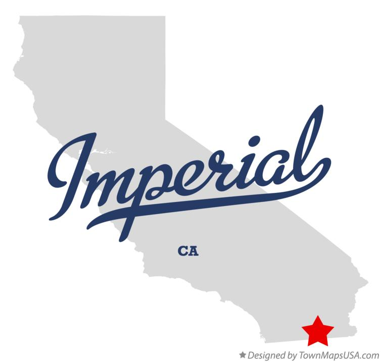 Map of Imperial California CA