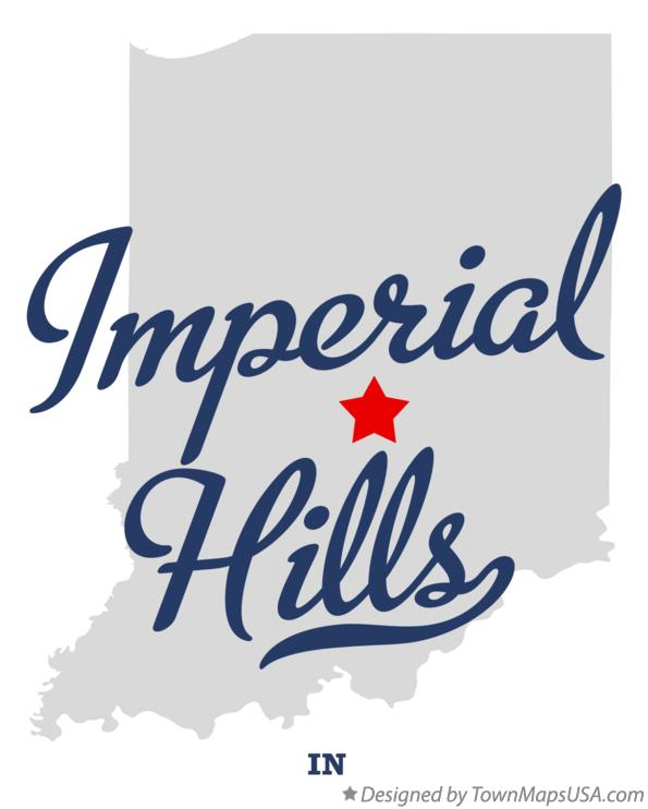 Map of Imperial Hills Indiana IN