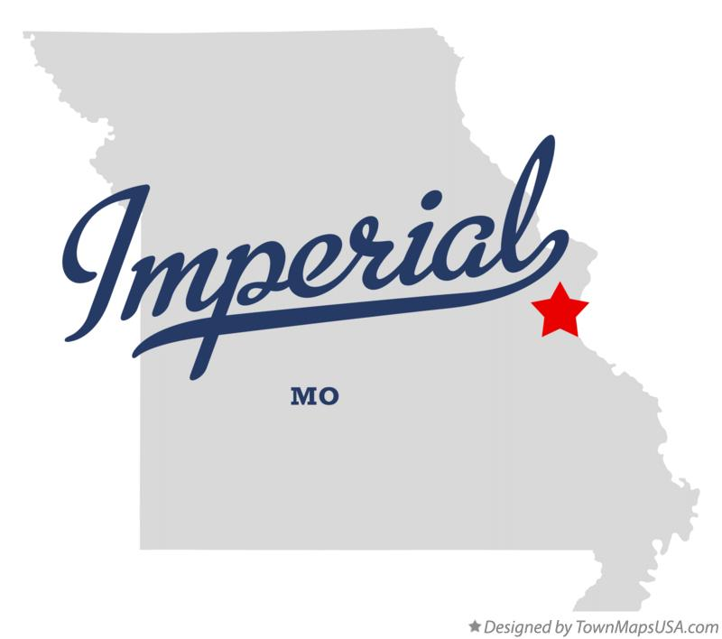 Map of Imperial Missouri MO
