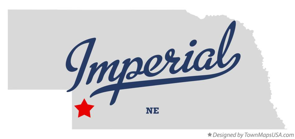 Map of Imperial Nebraska NE