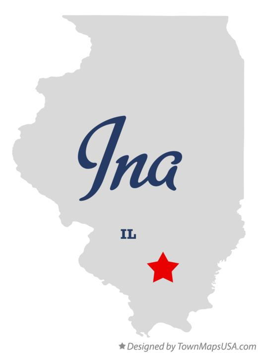 Map of Ina Illinois IL