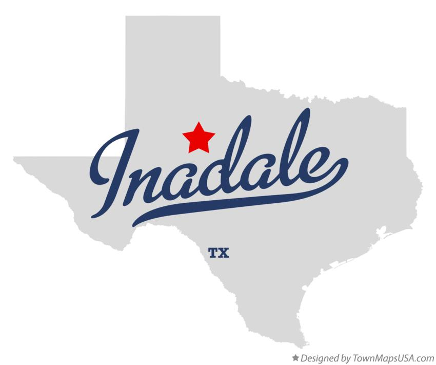 Map of Inadale Texas TX