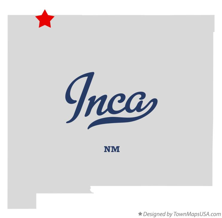 Map of Inca New Mexico NM