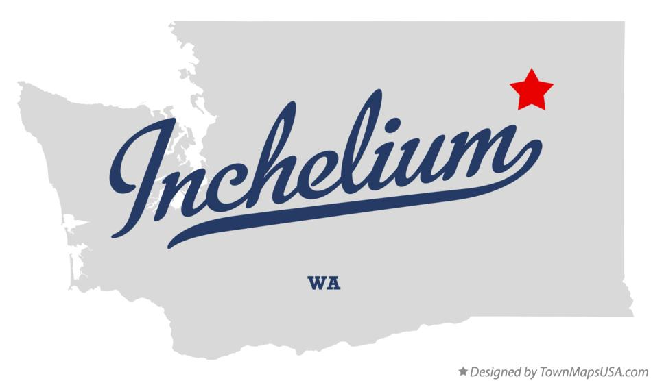 Map of Inchelium Washington WA