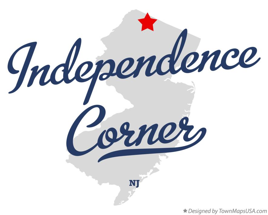 Map of Independence Corner New Jersey NJ