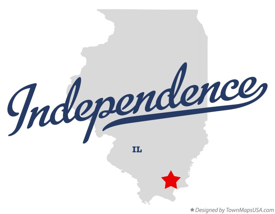 Map of Independence Illinois IL
