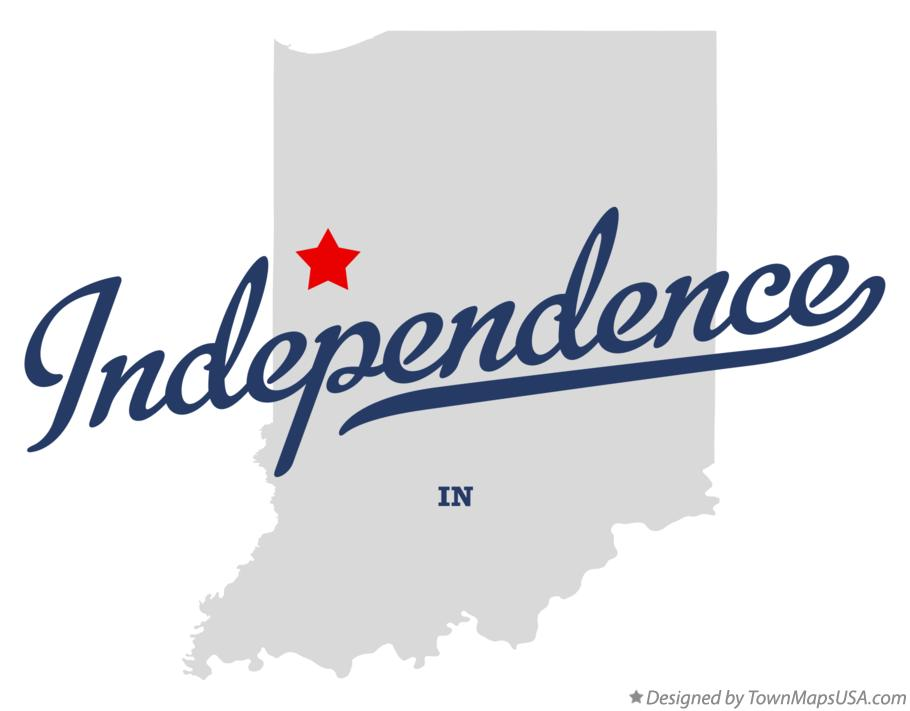 Map of Independence Indiana IN
