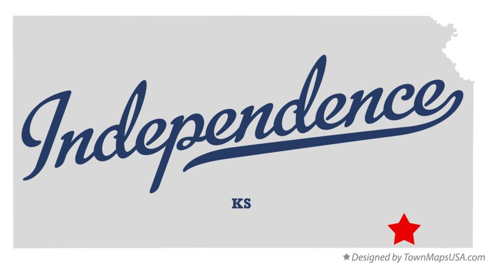 Map of Independence Kansas KS