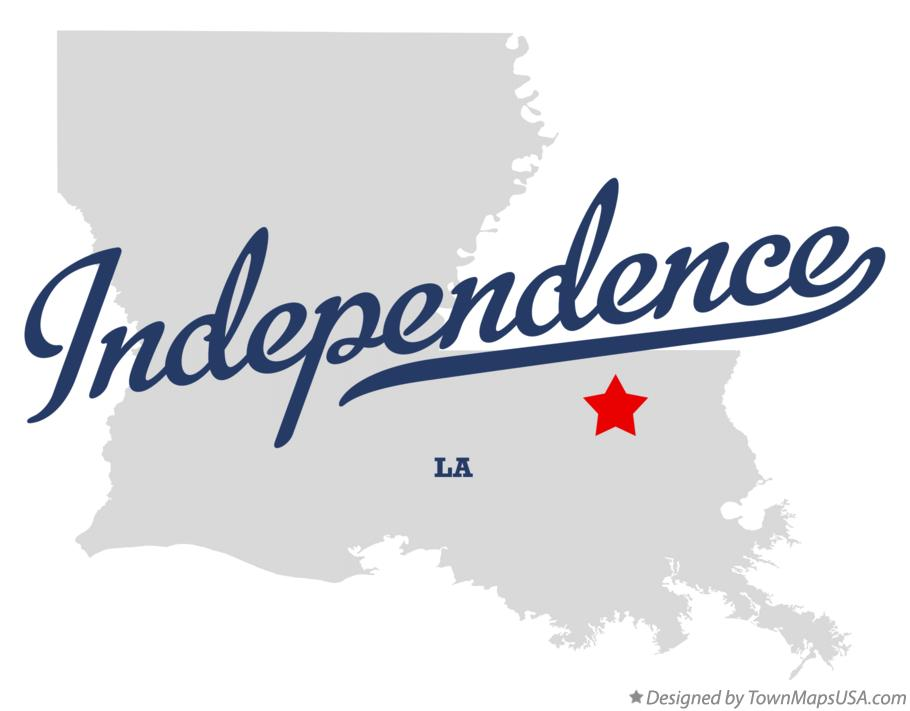 Map of Independence Louisiana LA