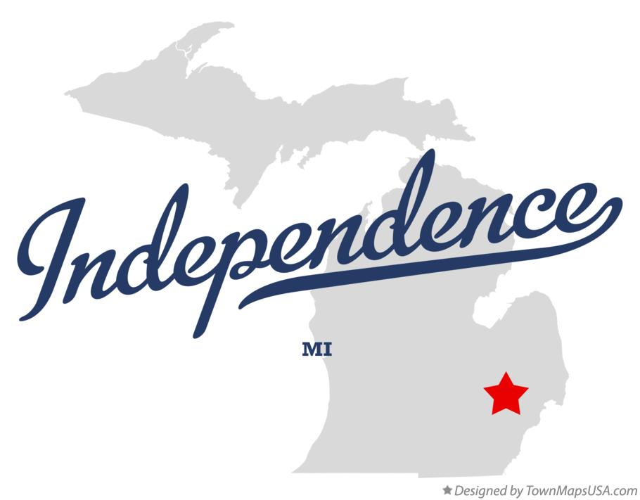 Map of Independence Michigan MI