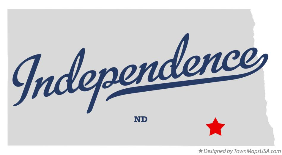 Map of Independence North Dakota ND