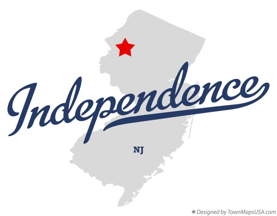 Map of Independence New Jersey NJ