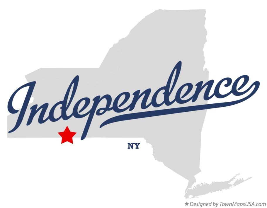 Map of Independence New York NY