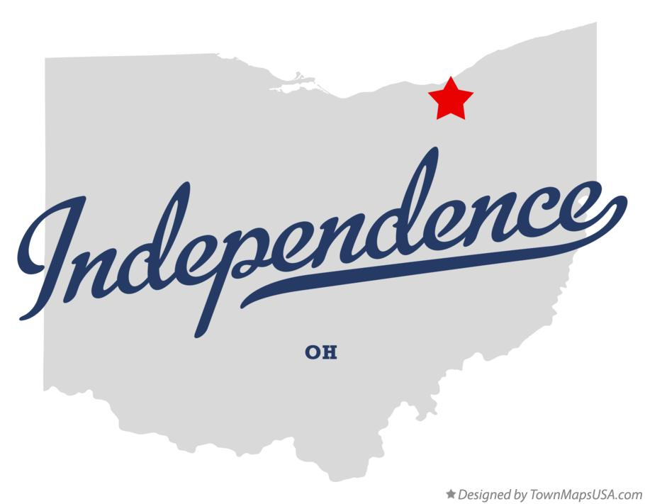 Map of Independence Ohio OH