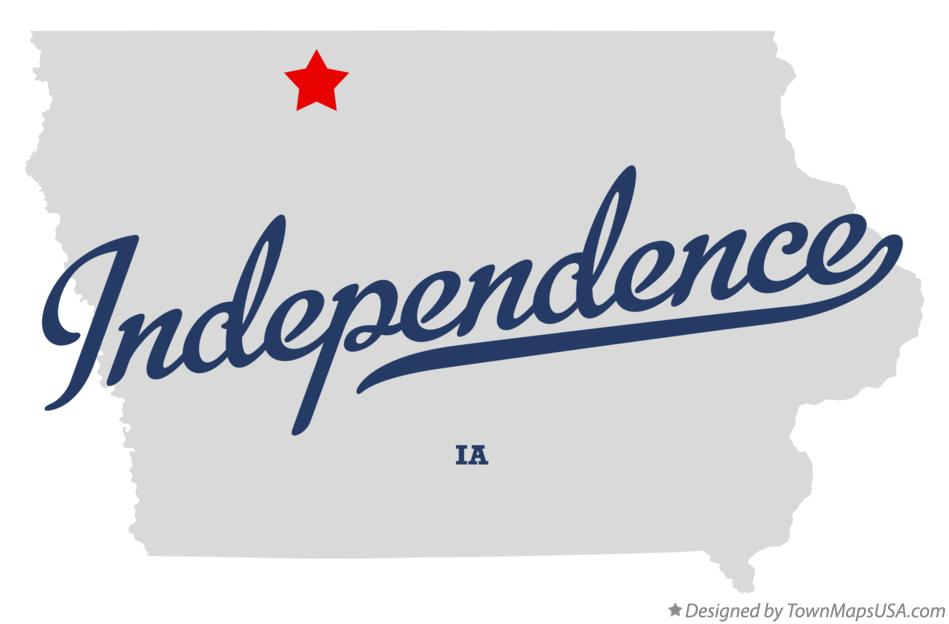 Map of Independence Iowa IA
