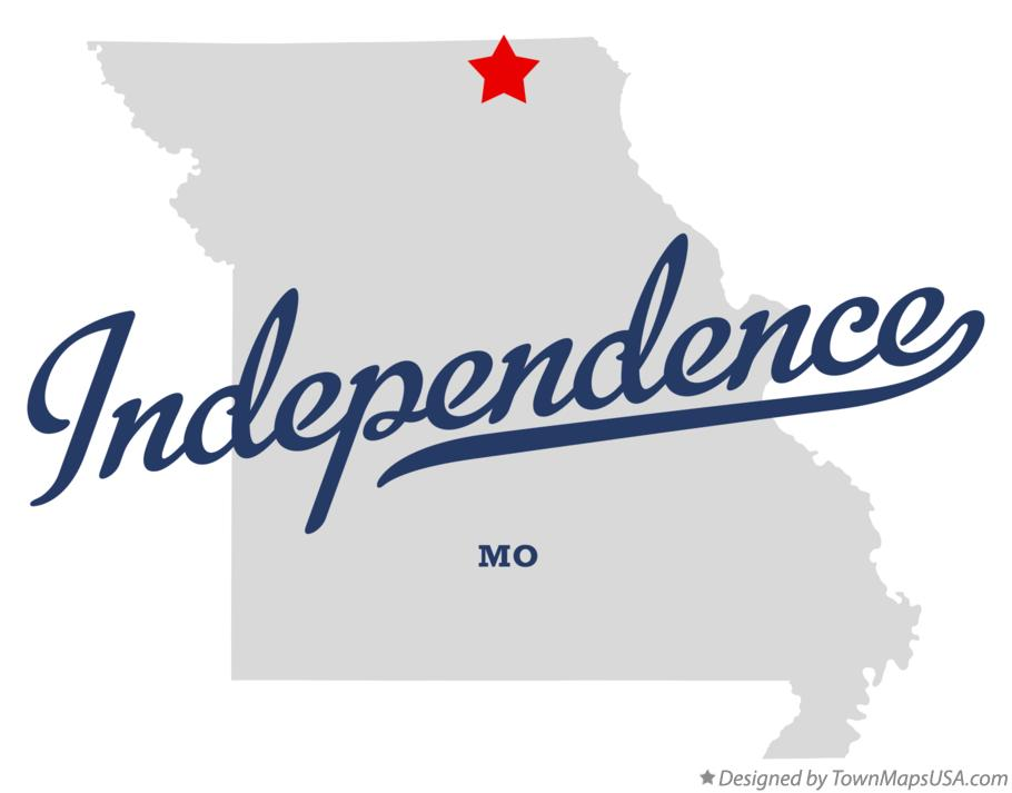 Map of Independence Missouri MO