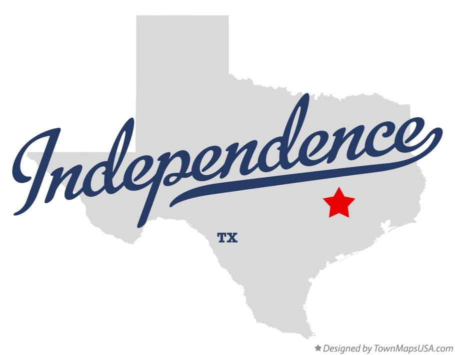 Map of Independence Texas TX