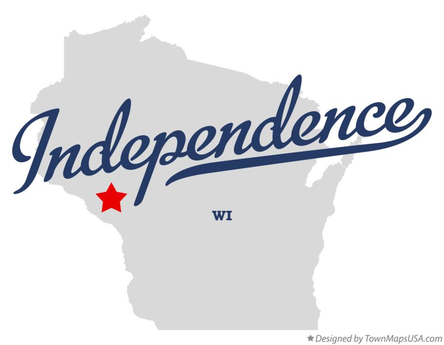 Map of Independence Wisconsin WI