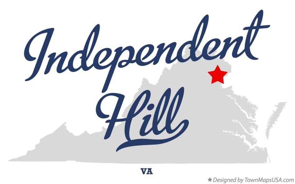 Map of Independent Hill Virginia VA