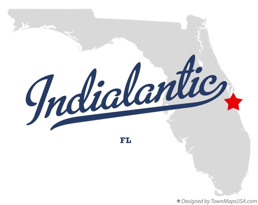 Map of Indialantic Florida FL