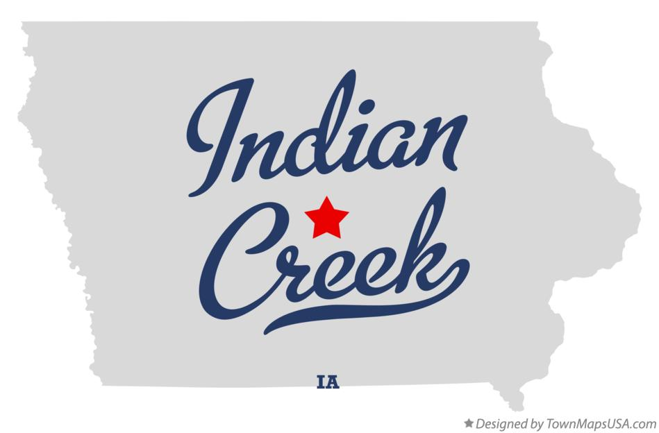Map of Indian Creek Iowa IA
