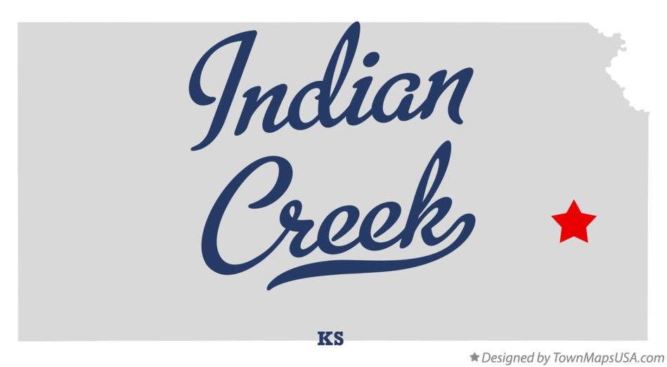 Map of Indian Creek Kansas KS