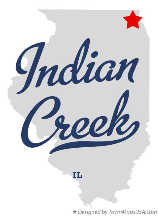 Map of Indian Creek Illinois IL