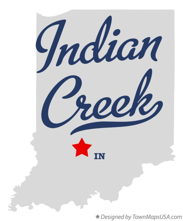 Map of Indian Creek Indiana IN