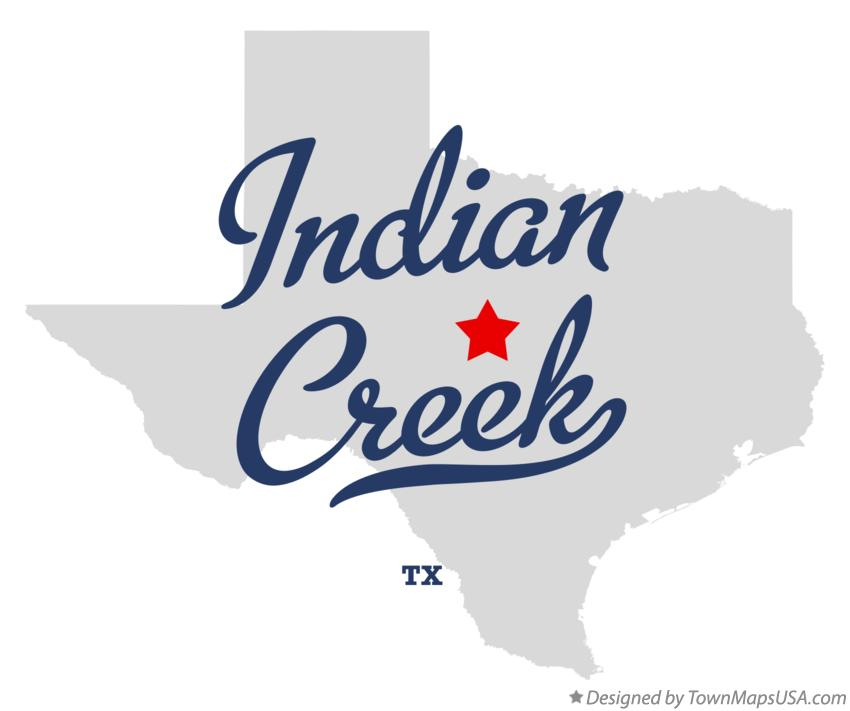 Map of Indian Creek Texas TX