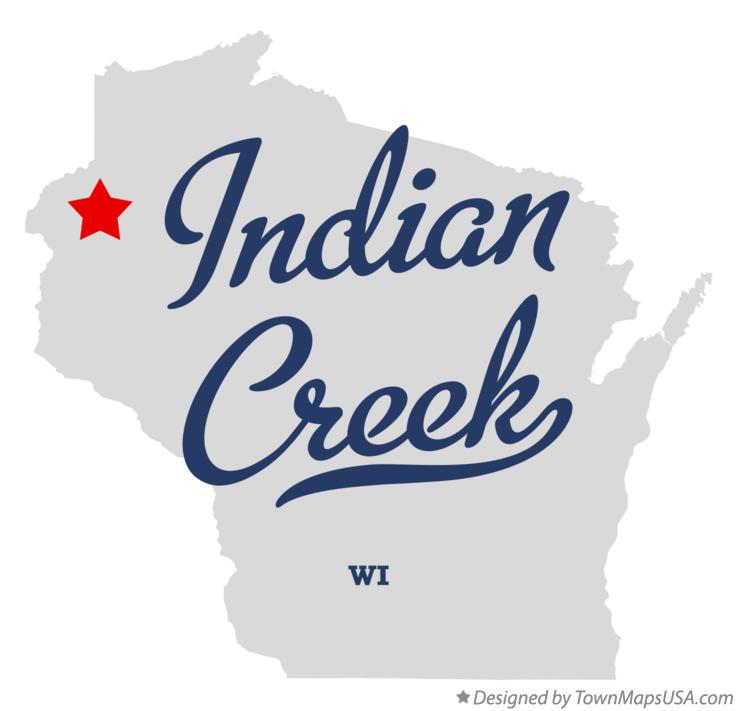 Map of Indian Creek Wisconsin WI