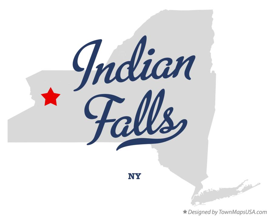 Map of Indian Falls New York NY