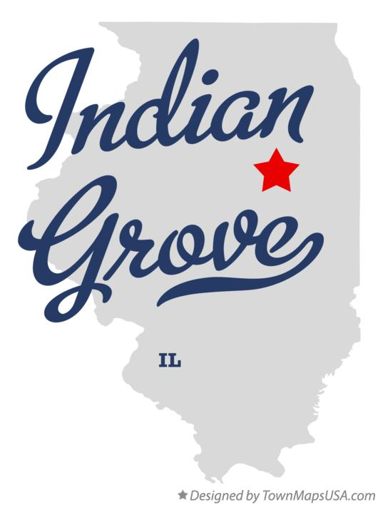 Map of Indian Grove Illinois IL