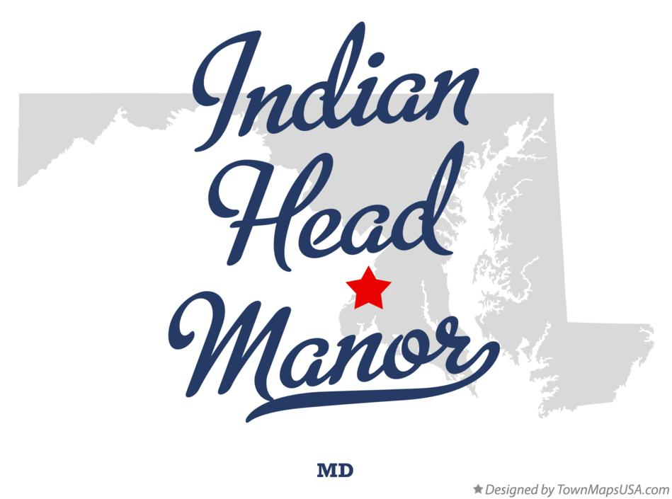 Map of Indian Head Manor Maryland MD