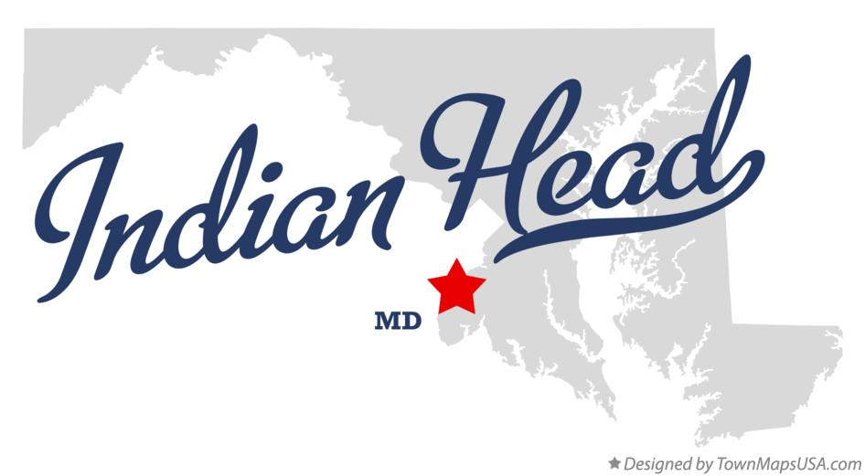 Map of Indian Head Maryland MD