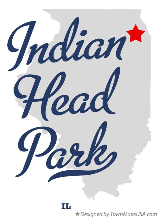 Map of Indian Head Park Illinois IL