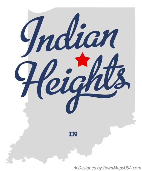 Map of Indian Heights Indiana IN