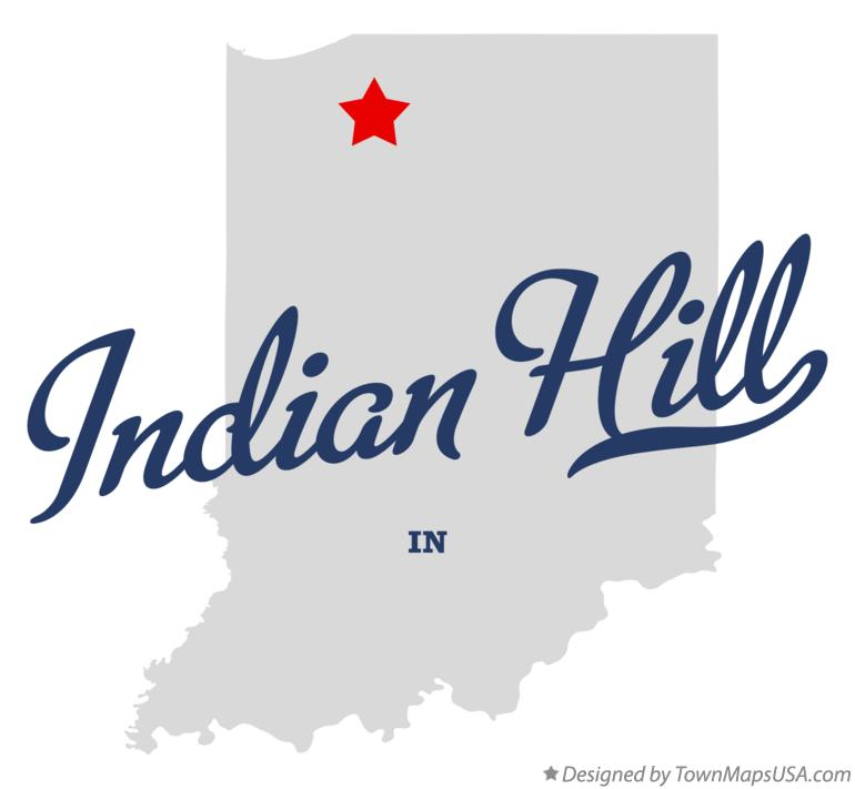 Map of Indian Hill Indiana IN