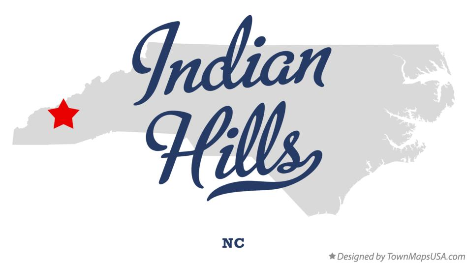 Map of Indian Hills North Carolina NC