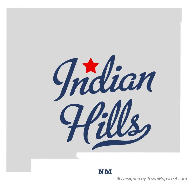 Map of Indian Hills New Mexico NM
