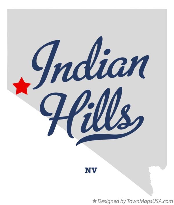Map of Indian Hills Nevada NV