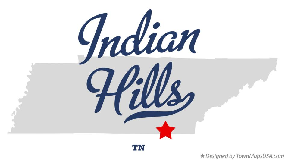 Map of Indian Hills Tennessee TN